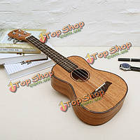 Chensheng из красного дерева укулеле 4 струны гитары с классической полосой вокруг края