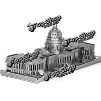 Айпин поделок 3d головоломки из нержавеющей стали собраны модели конгресс Соединенных Штатов серебряный цвет