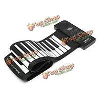 Konix PN61S 61 Силиконовый ключ портативный закатать пианино миди клавиатуры