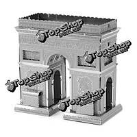 Айпин поделки 3d головоломки из нержавеющей стали собраны модели триумфальная арка серебристого цвета