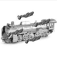 Айпин поделки 3d головоломки из нержавеющей стали модель собрана в Японии D51 локомотив цвет серебряный