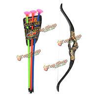 Пластик лук стрелка стрельба из лука моделирования бронза присоска лук стрелка костюм для малышей детей игры игрушки