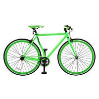 Велосипед 28д. FIX26C701-1 сталь HI-TEN, трековые колеса 700-23с, двойной обод, салатовый