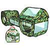 Палатка M 2504 (6шт) с тоннелем,230-70-85см,дом-вх.на липуч,отверстие,куб-5отверст,в сумке,42-41-5см