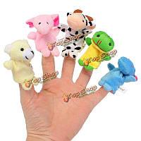 10шт двойное животное палец плюшевые игрушки куклы рассказывать историю хелперы Дети подарок детям
