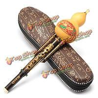 Натуральный тыквы черный бамбук кукурбит флейта с тон для начинающих