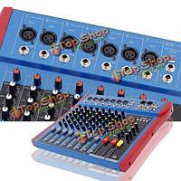 Feniyen 8 способ цифровой микшер USB профессиональный аудио микшер с КТВ 48В Phantom мощность