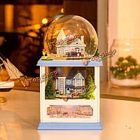 Hoomeda MC001 Северной Европы поделок комплект кукольный с LED Свет музыкальной коллекции деревянный декор