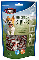 31534 Trixie Premio Fish Chicken Stripes лакомство с рыбой и курицей, 75 гр