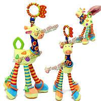 1шт мягкие жирафа колокольчики животное гремит ручка малышей детей мягкая игрушка подарок