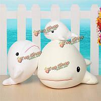 1шт мило белуха белый кит мягкий животное кукла орнамент чучела плюшевые игрушки декор