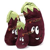 1шт мило баклажаны фиолетовые овощи фаршированные Плюшевые игрушки 50/70/100см орнамент мягкая кукла