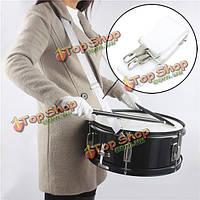 Нейлон регулируемый белый ремешок для одного бас-барабан малый барабан