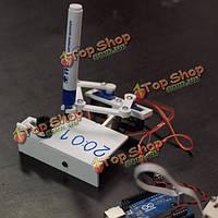 Plotclock Манипулятор рисования робота робототехнической часы с Arduino контроллера