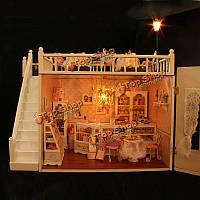 Cuteroom DIY деревянный кукольный шоколад ручной работы украшения модели с LED Светом и музыкой
