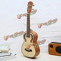 Chensheng 23-дюймов 26-дюймов еловой древесины винограда отверстий укулеле 4 струны гитары