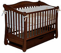 Детская кроватка Верес Соня ЛД 18 маятник+ящик (орех)