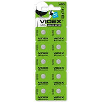 Батарейка часовая Videx  AG5, LR754 блистер 10/100/1600 (23268)