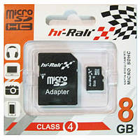 Карта памяти HI-RALI microSDHC 8 GB card Class 4+adapter