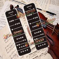 2шт 4/4 скрипка скрипка наклейки масштаба растрового изображения грифа палец немного этикетки