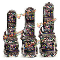 21-дюймов 23-дюймов 26-дюймов холст сопрано укулеле концерт укулеле плечо задний гитарного кофра