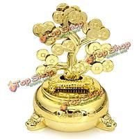 Солнечная энергия деньги монета танцы дерево флип лоскут столом танец флип лоскут декора