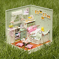 Cuteroom деревянный кукольный домик DiY Волшебник Изумрудного ручной модели украшения с LED Света и крышки