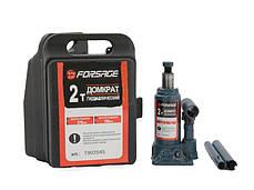 Домкрат бутылочный FORSAGE T90204S 2т с клапаном (150-278мм) в кейсе