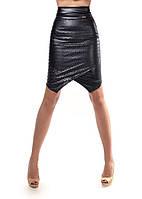Женская Кожаная юбка   (перфорация)