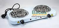 Электроплита настольная спиральная 2 кВт (плита электрическая переносная) 2-конф. Stenson (ME-0013S)