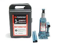 Домкрат бутылочный FORSAGE T90304S 3т с клапаном (180-350мм) в кейсе