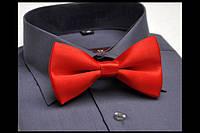 Классический галстук - бабочка красный