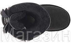 Женские угги UGG Bailey Bow, короткие угги угг австралия черные, фото 3