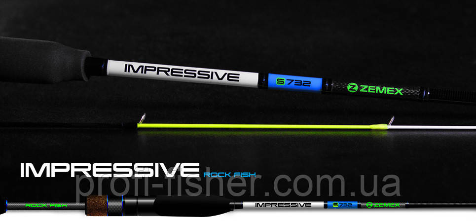 Спиннинг ZEMEX Impressive Т732    2,22м    0,5-6гр.  - Южная Корея