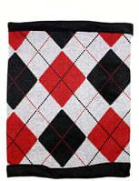 Теплый шарф многофункциональный (бафик) с флисом