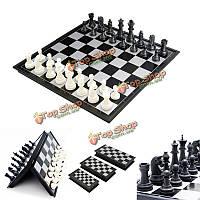 Портативный 2 в 1 магнитных fodable международных шахматных / шашки настольные игры, игрушки