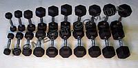 Гантельный ряд 1-10 кг обрезиненный, шаг 1 кг, фото 1