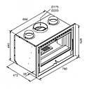 Топка для камина  LL- Calor Argo-80 c чугунным вкладышем + вент. набор, фото 2