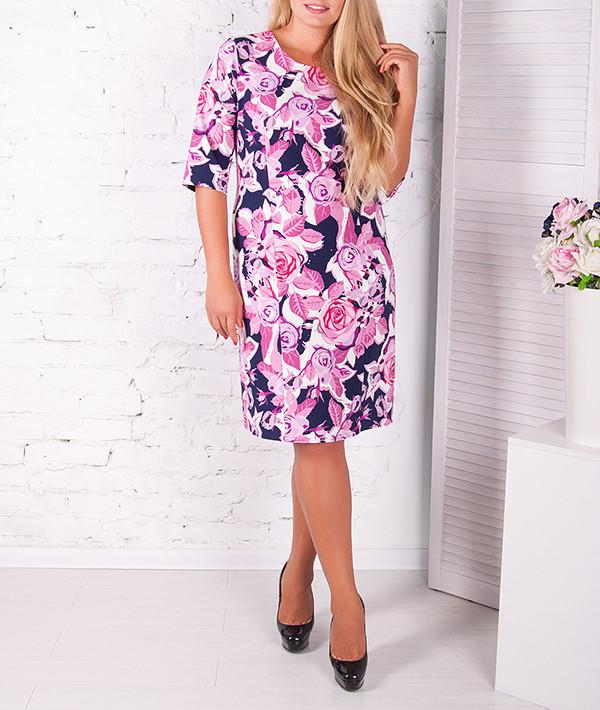 """Красивое платье большого размера """"Бьянка"""" с цветами"""