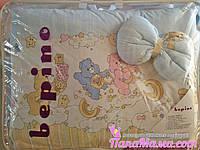 Комплект детского постельного белья в кроватку Bepino Мишки Гамми+Держатель