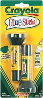 Клей карандаш канцелярский, в упаковке 2 шт, на водной основе, Crayola (Крайола)