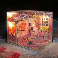 Hoomeda DIY кукольный комплект дети девочки коллекция подарок игрушка кукла дом с LED Свет
