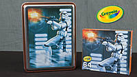 Набор карандашей Crayola Star Wars Storm Trooper Collectible Tin в металлической коробке, Крайола, фото 1