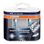 Автолампа H4 Night Breaker Unlimited комплект 2шт. OSRAM 64193NBUDUO
