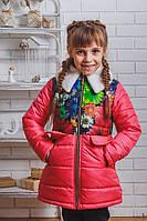 Пальто для девочки с бантом весна-осень
