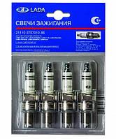 Свеча зажигания ВАЗ-2108-10,2113-15,1118 8 кл. инж (фирм. упак LADA) (кт. 4 шт) АвтоВАЗ
