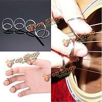 4шт золото серебро гитары бас палец выбирает фингерстайл большой палец плектры