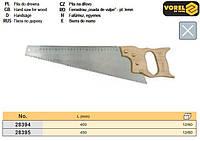 ножовка Польша по дереву ручка дерево 450 мм VOREL-28395