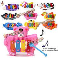 Ребенок дети музыкальное учебное животное музыка развития колокол игрушка подарок 4 тона