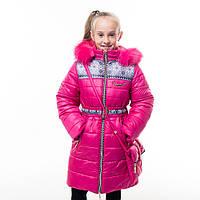 """Зимнее пальто для девочки """"Принт"""", от производителя оптом и в розницу, фото 1"""